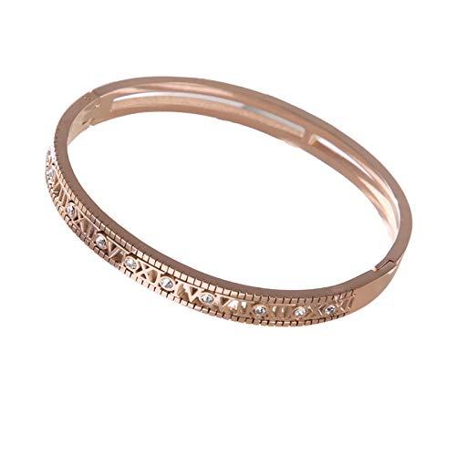 1 pulsera para mujer brazalete para mujer, accesorios personalizados Hewjoy para niñas, oro rosa