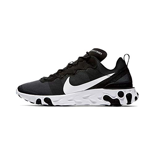 Nike React Element 55, Chaussures de Running Homme, Noir (Black/White 003), 41 EU