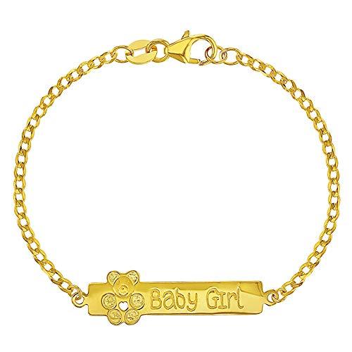In Season Jewelry - Bébé Nouveau-ne - ID Bracelet - Argent 925/1000 - Princesse - 14 cm