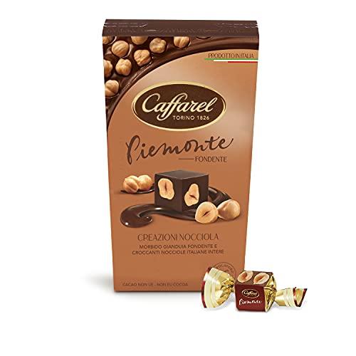 Caffarel Creazioni Nocciola Cioccolatini Piemonte al Cioccolato Fondente con Nocciole Intere 100% Italiane,165g