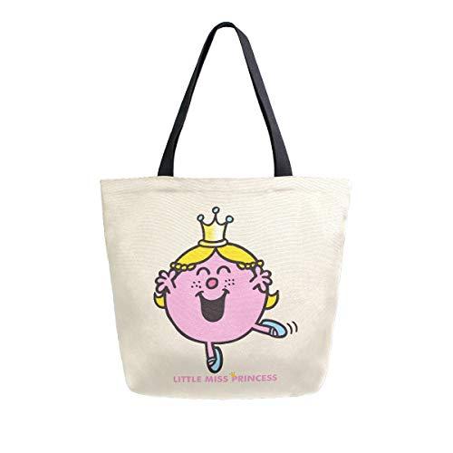 Little Miss Princess 2039003 - Bolso de lona para mujer, reutilizable, multiusos