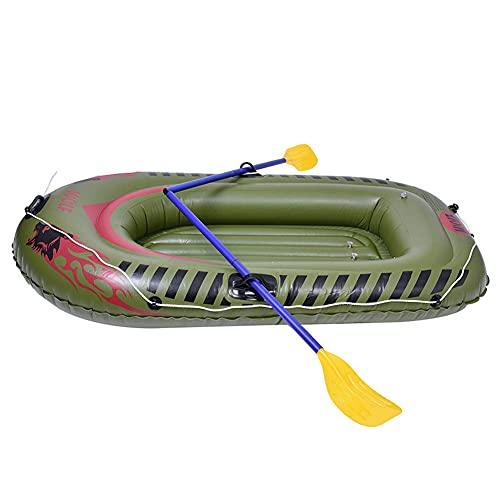 SJTL Juego Bote Inflable Kayak Inflable para 2 Personas Pesca Servicio Pesado Kayak de Aire Juego Canoa PVC Doble Engrosado Plegable Resistente al Desgaste Barco Pesca Kayak para Adultos