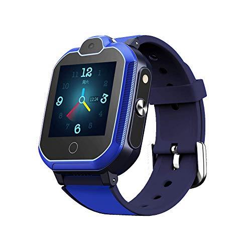 Simmotrade® 4G GPS Tracker Uhr für Kinder. Smartwatch mit Telefon und Notruf, Deutscher GPS Tracker Shop (blau)