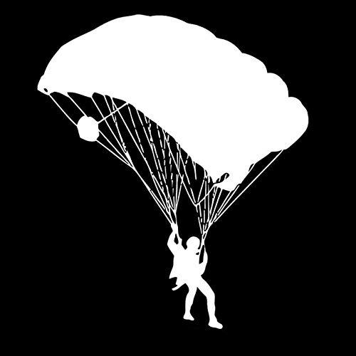 Fun Boy Extreme Parachute Sports Car Sticker Personalizado Impermeable Protector Solar Accesorios de decoración Negro/Blanco, 15 cm * 13 cm
