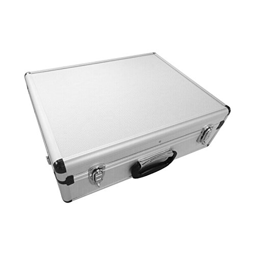 SRA Cases Aluminum Tool Case with Dividers, 18.1 x 14 x 6 Inches