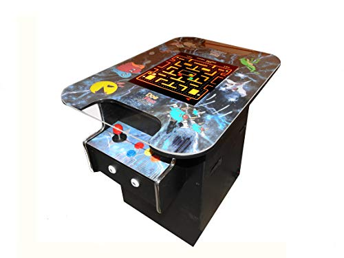 Doc and Pies Arcade Factory Cocktail Arcade Machine - 412 Retro Games - Full Size LCD Screen, Buttons and Joystick - 2 Year Warranty