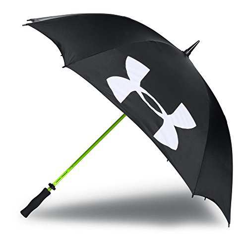 Under Armour Adult Golf Umbrella Single Canopy 62-inch , Black (001)/White , One Size Fits All
