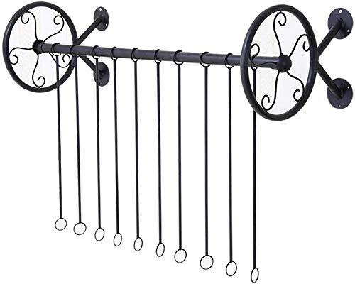 YLCJ kapstok, wandhouder, zijdelingse beugels, van ijzer, om op te hangen (maat: 120 cm)