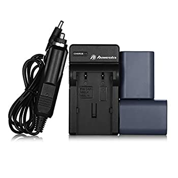 Powerextra 2 Pack Replacement Canon NB-2L NB-2LH Battery with Charger for Canon PowerShot G7 G9 S30 S40 S45 S50 S60 S70 S80 DC410 DC420 VIXIA HF R10 HF R100 HF R11 EOS 350D 400D Digital Rebel XT XTi