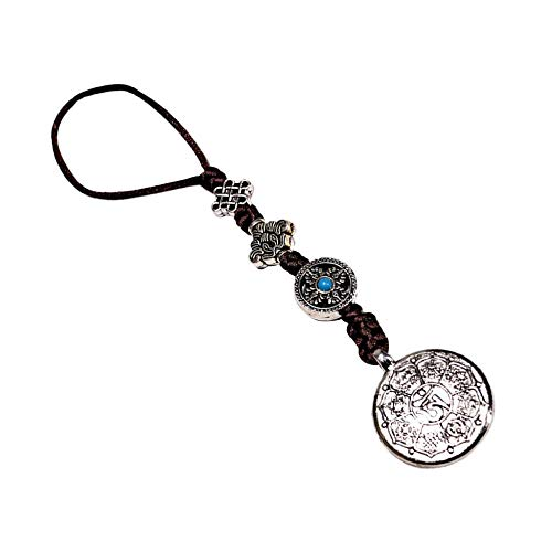 Ocho trigramas Espejo Amuleto Budismo Tibetano para protección y Buena Suerte, A