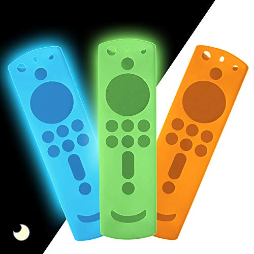 3 Pack TV Remote Case for Fire TV Stick 4K, Silicone Protective Remote Cover Shockproof Remote Controller Skin Fire TV Remote Cover for Fire TV Cube/Fire TV(3rd Gen)/All-New 2nd Gen Alexa Voice Remote