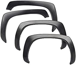Fender Flares Compatible With 1999-2006 Chevy Silverado | Factory Style Black Polypropylene (PP) Front Rear Right Left Wheel Cover Protector Vent Trim by IKON MOTORSPORTS | 2001 2002 2003 2004 2005