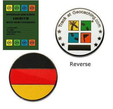 Geocoin Micro® Trackable Geocaching -Germany - Deutschland Coin TB