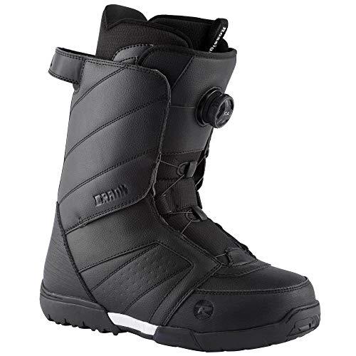 2021 Rossignol Crank Boa H3 Snowboard Boot (Black, 7)