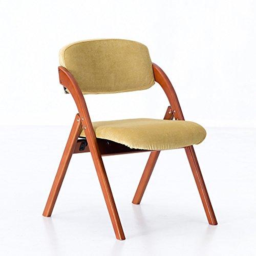 LLRDIAN Einfache Domäne Esszimmerstuhl Massivholzstuhl Bürostuhl Schreibtischstuhl einfache Moderne Café Tische und Stühle Nordic Retro-Stuhl Einfacher Klappstuhl (Color : F)