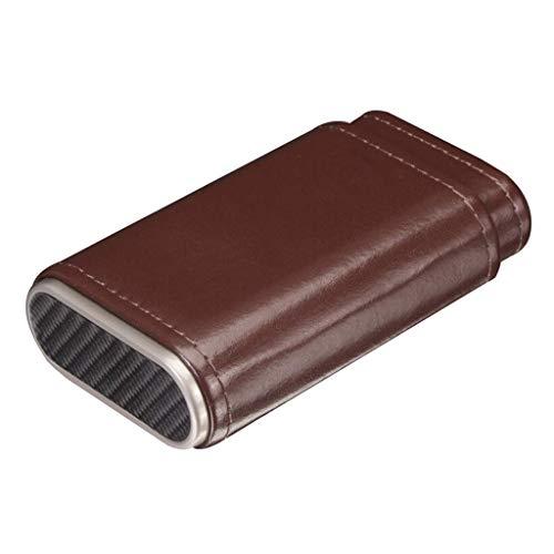 Caves à Cigares Réserve Cigar Voyage Humidor Briquet coupe-cigare Ensemble-cadeau Voyage portable en cuir Boîte étui à cigarettes cigare Tube, peut accueillir 3 Cigares compact en cuir étui à cigares