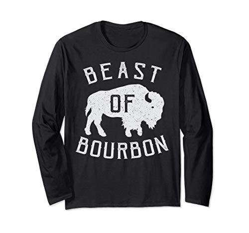 Beast of Bourbon Drinking Whisky design Bison Buffalo Party Manga Larga
