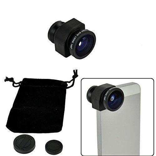 3in 1Fisheye Winkel/Micro-Objektiv/Weitwinkelobjektiv-Set Foto Kamera Set Objektiv für iPhone5Schwarz