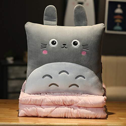 Manta De Almohada De Peluche Mi Vecino Totoro Tres En Uno, con Calentador De Manos Y Manta, para El Hogar Oficina De Viajes En Automóvil,150 * 180cm