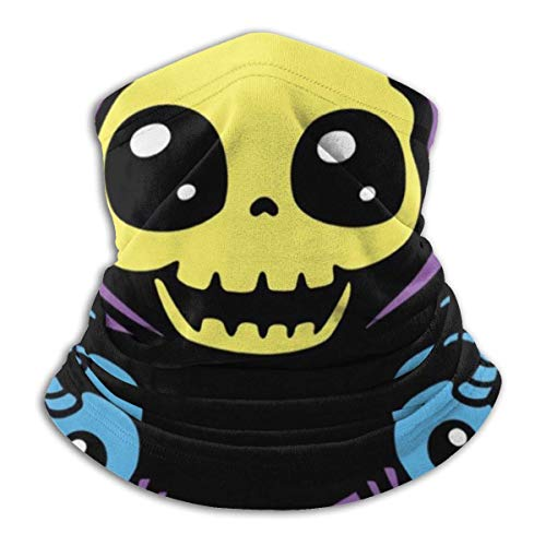 JACOBY Skeletaww And Crossbones Masters Of The Universe Skeletor Warmer Schal Schlauchschal Bandana Stirnband for Men Women Sun UV Wind Dust Protection Skiing Riding Running
