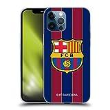 Head Case Designs Oficial FC Barcelona Casa 2020/21 Kit de Cresta Carcasa de Gel de Silicona Compatible con Apple iPhone 12 Pro MAX