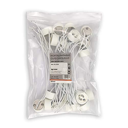 POPP® Portalámparas casquillo GU10 Versión Zócalo Cerámica con 0,75mm² calidad de cable...