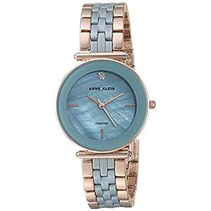 Anne Klein Reloj de Pulsera de cerámica con Diamante Genuino para Mujer