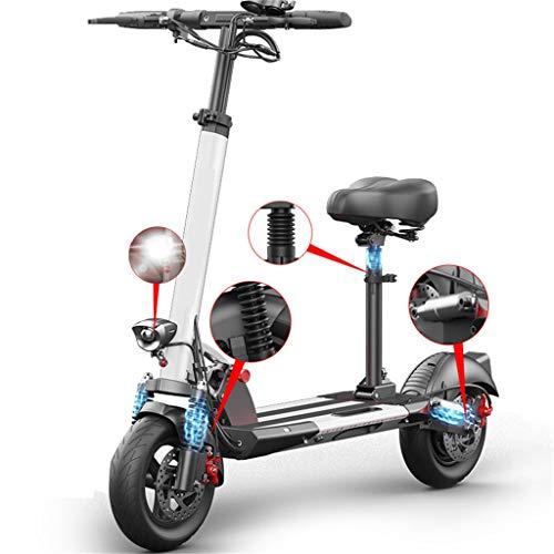 Patinete Eléctrico Scooter Plegable E-Scooter, Velocidad 45km/h, Ruedas antirreventón Tubeless de 10