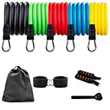FZFR Fitness Workout Resistance Bands Set - Portable Home Gym Exercise Bands for Arms, Back, Chest, Belly, Glutes.Legs Ankle Straps for Resistance Training, Physical Therapy, Home Workouts