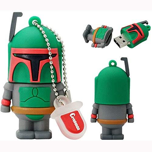 LLCX USB Flash Drive Memory Stick USB Stick con Departamento de Star Wars Creative Dibujos Animados Anime PVC U Disco 4G / 8G / 16G / 32G,4G