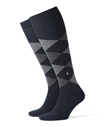 Burlington Hombre Edinburgh Calcetines altos Not Applicable, Azul (Dark Navy 6377), 7-10 (Talla del fabricante: 40-46)