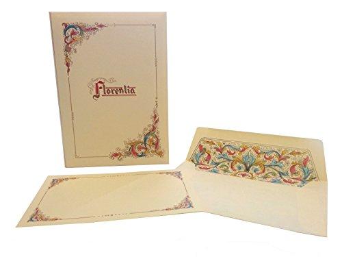 Florentia Briefpapier-Set, große Karten und UmschlägeItalienisches Briefpapier, Florentiner Papier.
