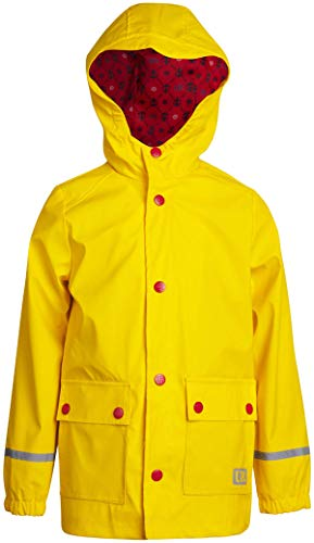 Urban Republic Boys' Waterproof Vinyl Hooded Rain Jacket with Snap Closure, Size 10/12, Yellow'