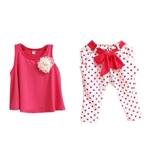 JERFER Baby Mädchen Weste Kleidung Dot Blume Set Kleinkind