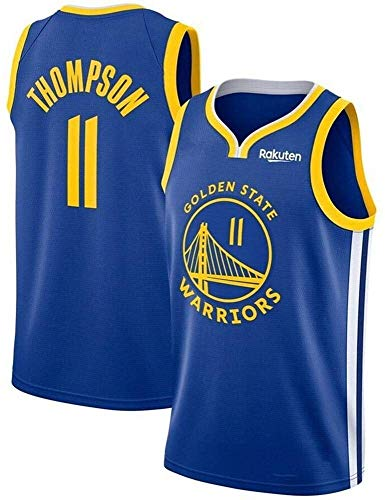 llp NBA Baloncesto Ropa Nueva Temporada Jersey NBA Warriors No. 30 Curry No. 11 Jersey Fitness Training Traying Transpirable Sweat G-Small (Color : A, Size : Large)