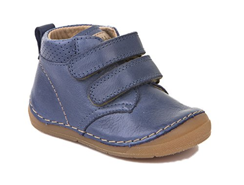 Froddo Kinder Halbschuh G2130132 Jungen Klettschuh Leder Klettverschluss Blau, Größe 21