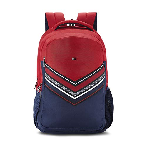 Tommy Hilfiger Rene 25 Ltrs Red Laptop Backpack (TH/RENELAP04)