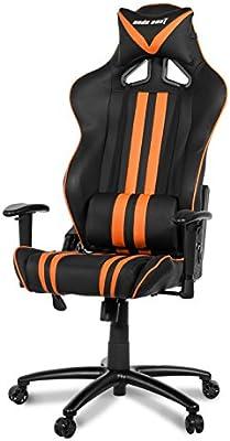 Anda Seat Traction - Silla (Negro, Naranja, Negro, Naranja, Metal,
