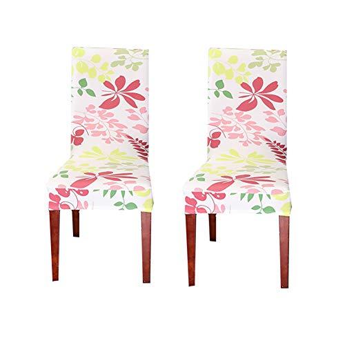 wersdf Stretch stuhlhussen kaufen Chair Cover Esszimmer Stuhl Sitz Pads Einfach fit Stuhl abdeckungen Stretch Stuhlhussen Esszimmer Stuhl Kissen Set of 2,pink