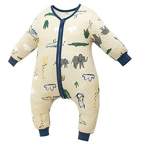 LUO Sacos de Dormir Bebé de la Primavera Bolsa de Dormir y Saco de Dormir bebé del otoño con Las piernas (Color : Blue, Size : Height 105-115cm)