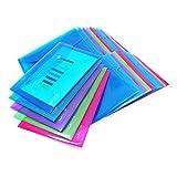 Rapesco 1498 - Pack de 25 carpetas con cierre de corchete, A5, transparente