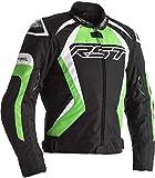 RST Tractech Evo 4 CE Chaqueta de moto textil negro verde para hombre EU56