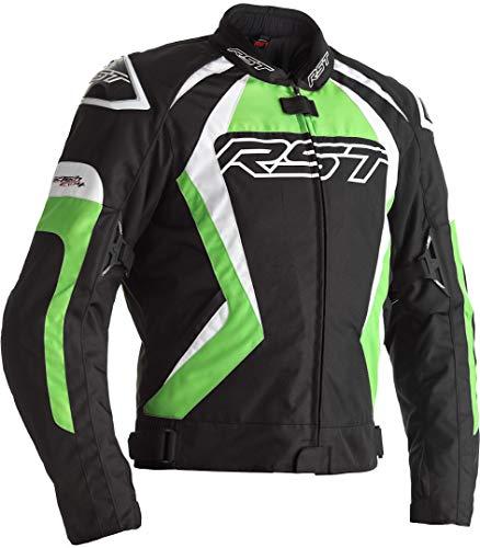 RST Tractech Evo 4 CE Chaqueta de moto textil negro verde para hombre EU52