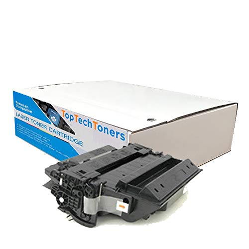 TOP & TECH Remanufactured Toner Cartridge Replacement for HP CE255A ( Black )