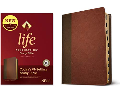 Compare Textbook Prices for NIV Life Application Study Bible, Third Edition LeatherLike, Brown/Mahogany, Indexed Tyndale NIV Bible with Thumb Index, Updated Notes and Features, Full Text New International Version Indexed, Thumbed Edition ISBN 9781496439437 by Tyndale