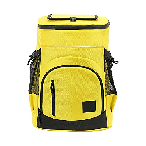 AUTUUCKEE 30L Senderismo aislado refrigerador mochila impermeable a prueba de fugas al aire libre Picnic Camping Bag (amarillo)