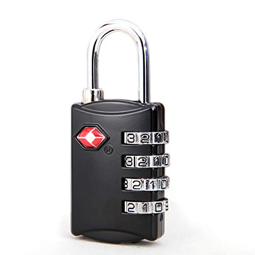 LVHE Suitcase lock TSA, combination lock luggage locks travel locks 4-digit number combination (1000) - Best TSA approved for travel security