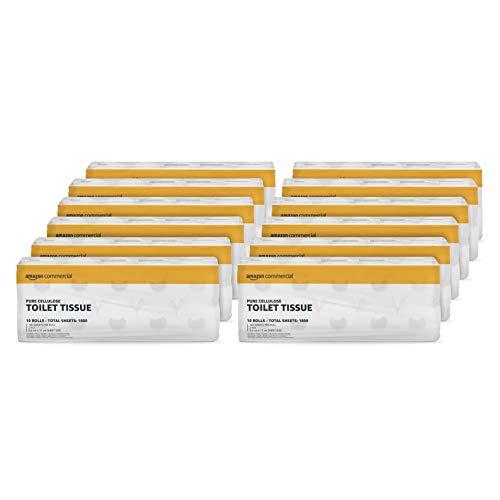 AmazonCommercial – Papel higiénico de 2capas de celulosa pura, 120rollos