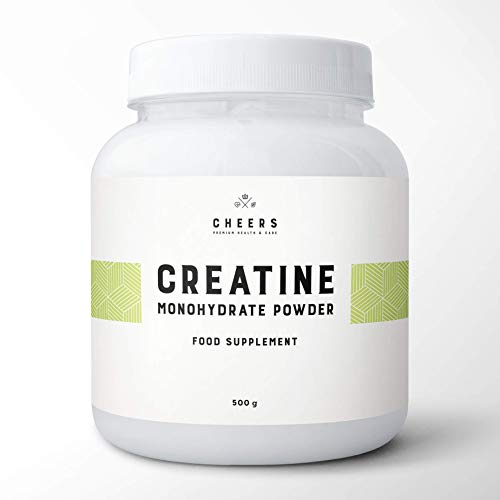 Creapure Creatine Monohydrate - 500g - Pure Creatine Powder Unflavoured Vegan - Micronized Creapure Creatine Supplement