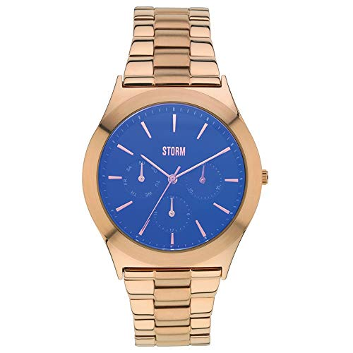 STORM London Multizan Damen Multifunktionsuhr roségoldfarben/blau 47232/B